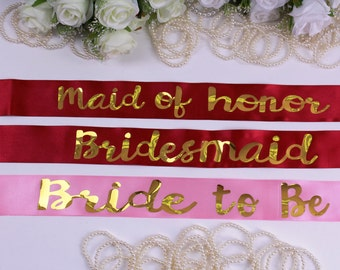 Plus size Personalized Bride sash Wedding sash Bridal sash Bridesmaid sash Bridal gift Bride Maid of Honor Bachelorette sash Bachelorette