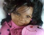 Reborn Doll African American_Ethnic_Bi-Racial Realistic  Baby Girl , Punkin by Donna Rubert