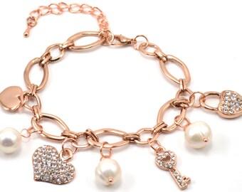 Gypsy Charm Pearl Bracelet