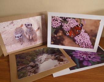 Photo Cards, Photo Greeting Cards, Photo Note Cards, Set of 4 Cards, Set of 4 Photo Cards