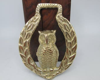 Owl | Owl Horse Brass | Owl Horse Badge | Brass Owl | Law