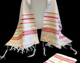 Ladies Messianic Prayer Shawl with matching Bag