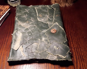 The Book of Druids - handbound book with leather cover
