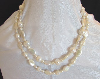 Fresh Water Pearl Doublestrand Necklace