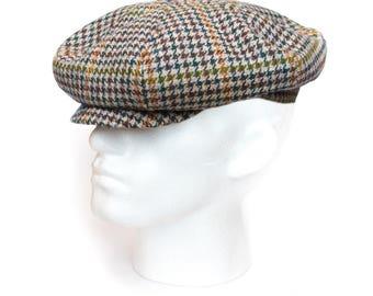 Tweed, Baker Boy Cap, Flat Cap, News Boy Cap, Tweed Check, Tweed, Plaid, Great Gatsby Cap, Paper Boy Cap, Peaky Blinders Cap