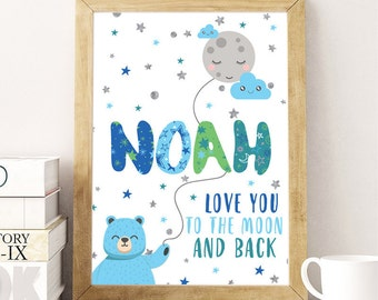 Custom plaque with name bimbo-Baby Keepsake gift idea birth-birth-birth gift Poster framework