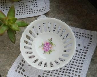 hand painted porcelain basket