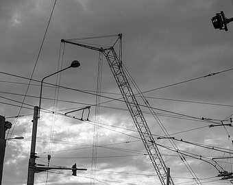 Urban Lines, Black & White, Original Print