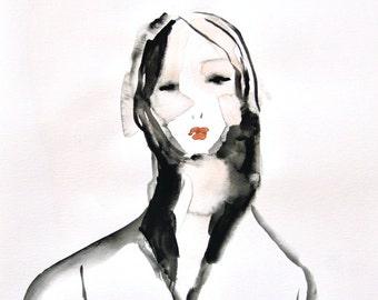 Portrait - Fashion Illustration - Art - Painting