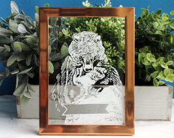 Individual, framed illustration for mother's day