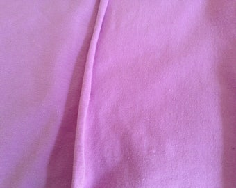 Cotton/polyester stretch lycra, rose (or mauve) color, 60 inches wide and 44 inches long