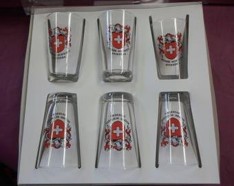 Swisse Shot Glasses Set of Six