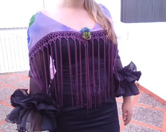 Mantoncillo Flamenca, Mantoncillo Mauve, flamenco complement, Fiesta complement, Lady Party, Mother's Day