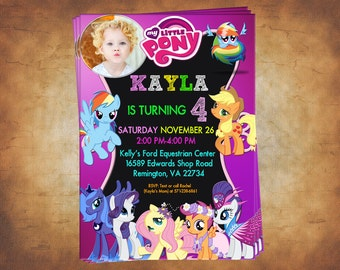 My Little Pony / My little pony invitation / My little pony birthday / My little pony party / My little pony birthday party invitation