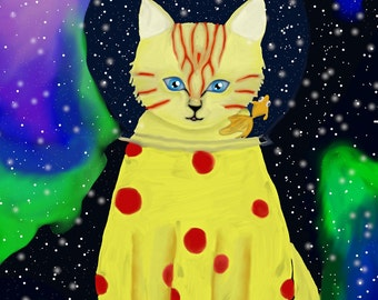 Space Cat, Digital Painting