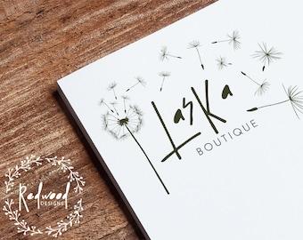 Premade Logo | Logo Design | Company Logo | Script Logo | Elegant Logo | Dandelion Logo | Beautiful Logo | Wish Logo | Business Logo