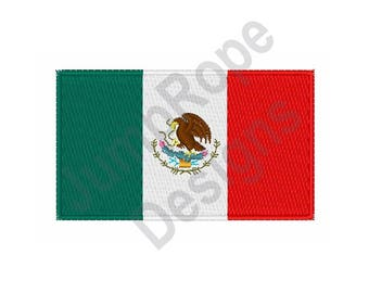 Mexican National Flag - Machine Embroidery Design