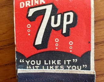 Vintage 7up Matchbook