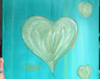 Heart turquoise