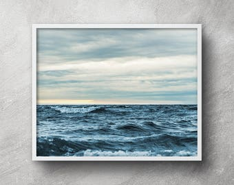 Ocean photography, Printable art, Seascape photography, Beach art, Ocean waves print, Vintage photography, Wall art, Nautical decor