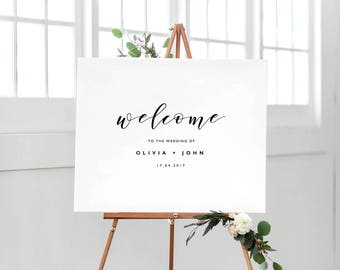 Welcome To Our Wedding Sign Template, Printable Welcome Sign, Wedding Welcome Sign, Welcome Sign Instant Download, Welcome Signs - KPC01_303