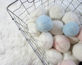 Eco Friendly Baby Friendly 100% CANADIAN Hand Needle Felted Wool Dryer Ball