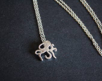 small octopus necklace