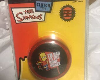 Rare The Simpsons fantastic clutch yo yo c2004  licensed product still new in original blister pack