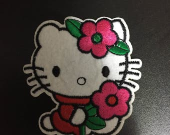 Hello Kitty, Hello Kitty Iron on Patches, 8.2x7.8cm size