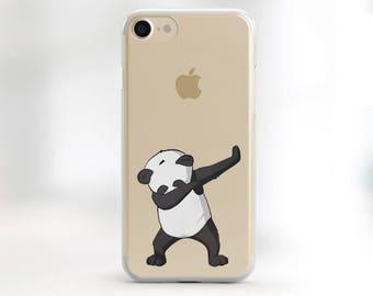 Clear iPhone Case Panda iPhone 6 Plus Case panda iPhone 6s Case Clear Case Clear iPhone 7 Case Animal Print Hipster Phone Case Clear Case