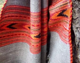 Beautiful grey wool scarf,wrap,shawl