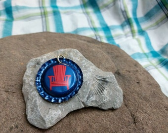 Bottle Cap Pendant - Adirondack Brewing Co.