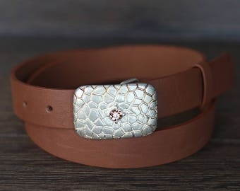 Leather Belt, Light Brown Leather Belt, Whiskey Brown Leather Belt, Womens Belt, Fashion Belt