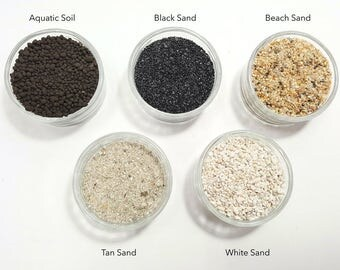 5 Colors Natural Sand and Soil for Terrarium Crafts, DIY Project Starter Kit, Garden Accessories