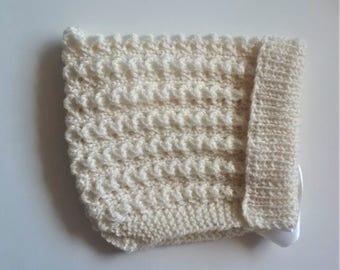 Knitted Pixie Hat Cream Baby