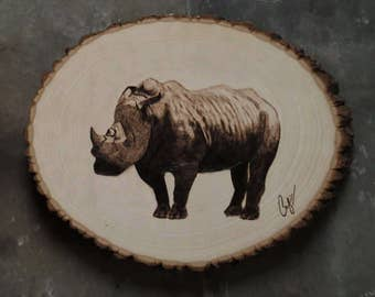 Wood-Burning: White Rhino