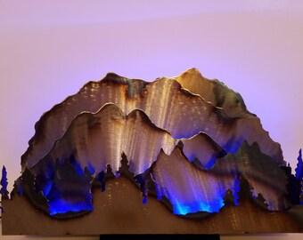 Steel Mountain silhouette