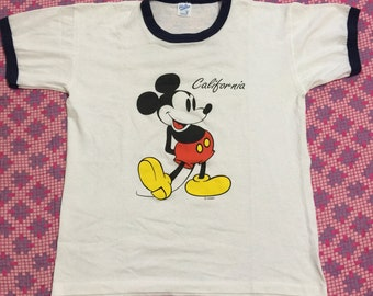 Vintage 80/90s mickey mouse ring single stitch t shirt
