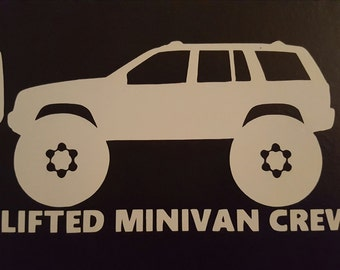 Lifted Minivan Crew Sticker - ZJ