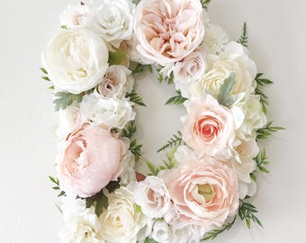 Custom Floral Letter for Wedding, Baby Shower, Bridal Shower or Nursery