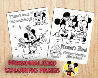 Mickey Mouse Party Activity Favor / Personalized / Birthday / Printable / Digital / PDF
