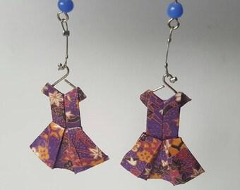 Origami earrings little dresses