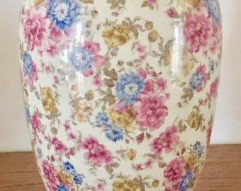 Bareuther vase with flowers and gold 40 's profile