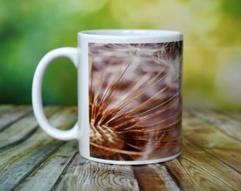 Dandelion Mug - Coffee Mug - Ceramic - Nature Photo Mug