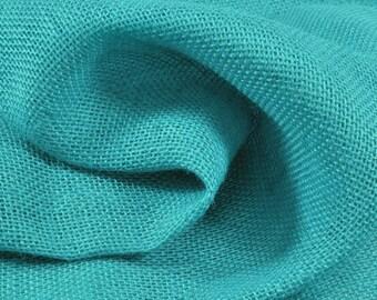 Burlap Fabric, Tote Fabric, Wreath Fabric, Garden Fabric, Turquoise Burlap, CraftSupplies, SewingMaterial, Fabric Yard/Half Yard/Fat Quarter