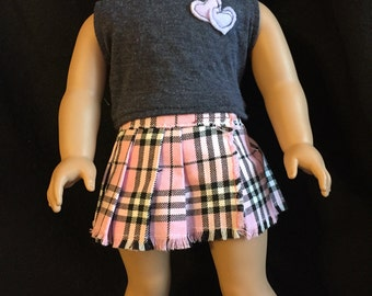 American girl doll pleated