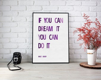 If you can dream it you can do it- 8x10 Art Print, Inspirational Print, Hello Darling, Printable Art, Typography, Home Decor
