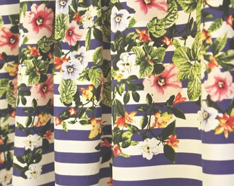 Stripes and Flowers Print