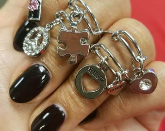 Expandable Ring with charm