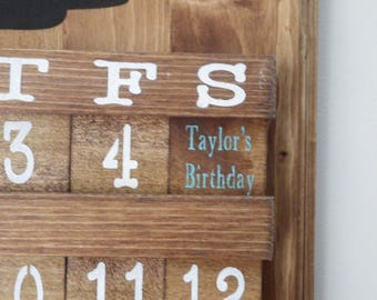 Personalized Calendar Tiles